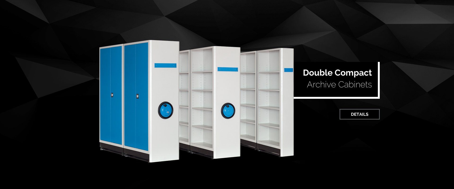 Double Compact Archive Cabinets