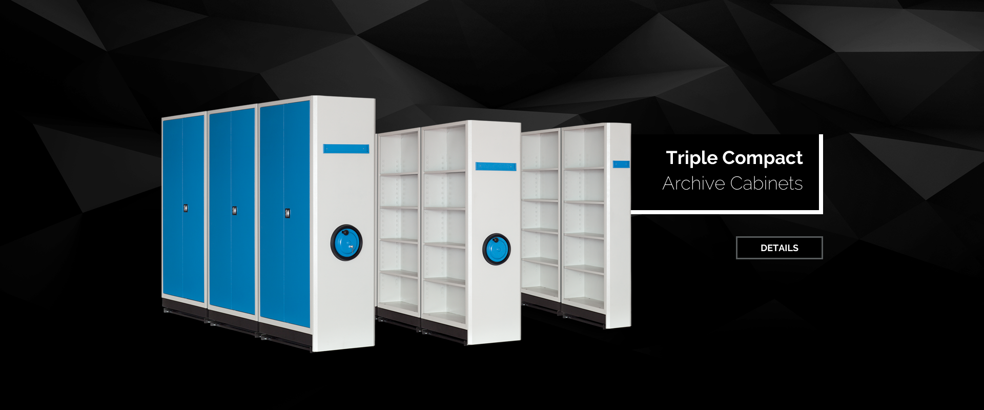 Triple Compact Archive Cabinets